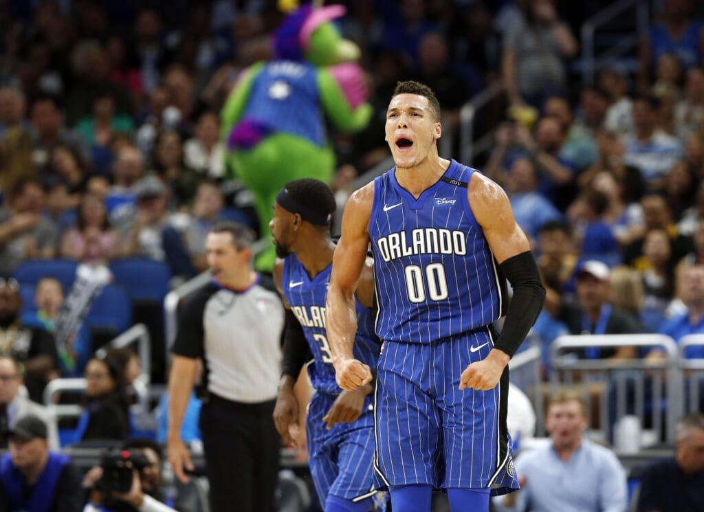 Aaron Gordon has his Magic playing great ball.