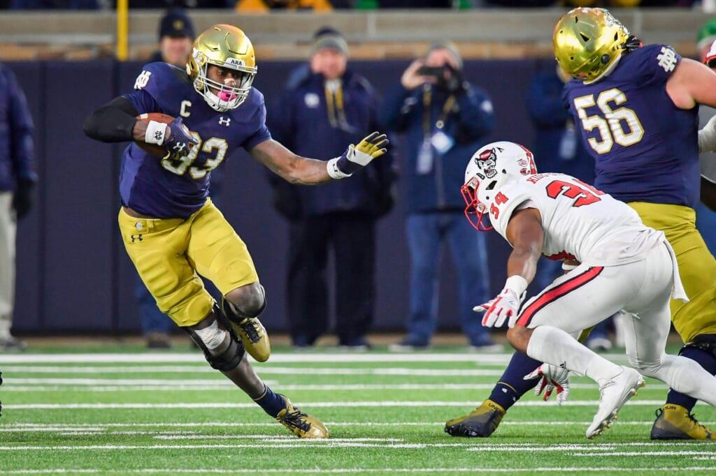 Notre Dame running back Josh Adams