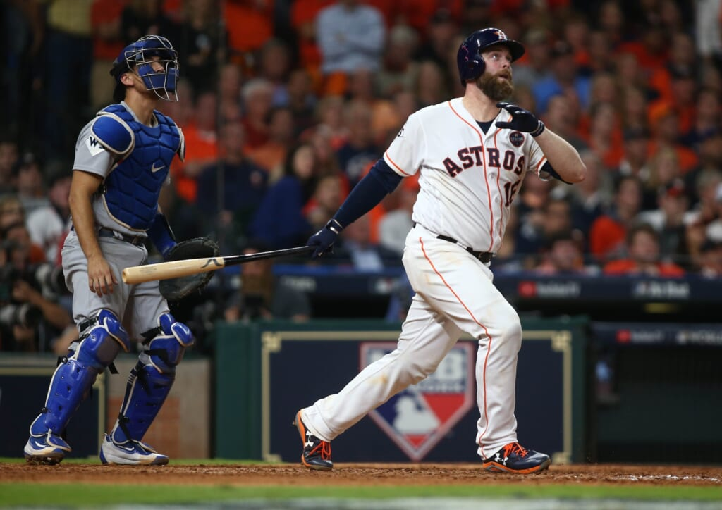 Houston Astros catcher Brian McCann homers and we know the balls are juiced