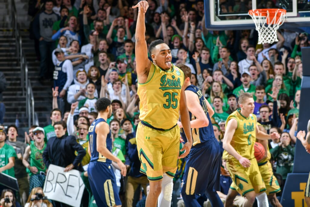 Notre Dame FIghting Irish forward Bonzie Colson is one of the most dangerous scorers of any Top 25 college basketball team