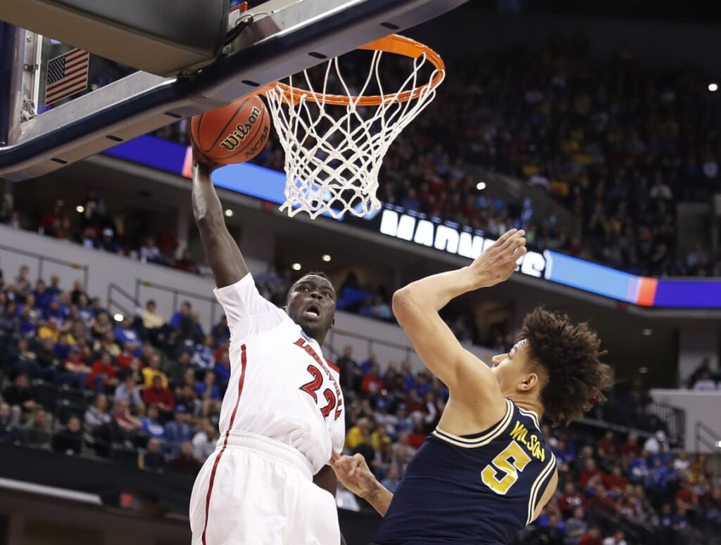 Louisville forward Deng Adel