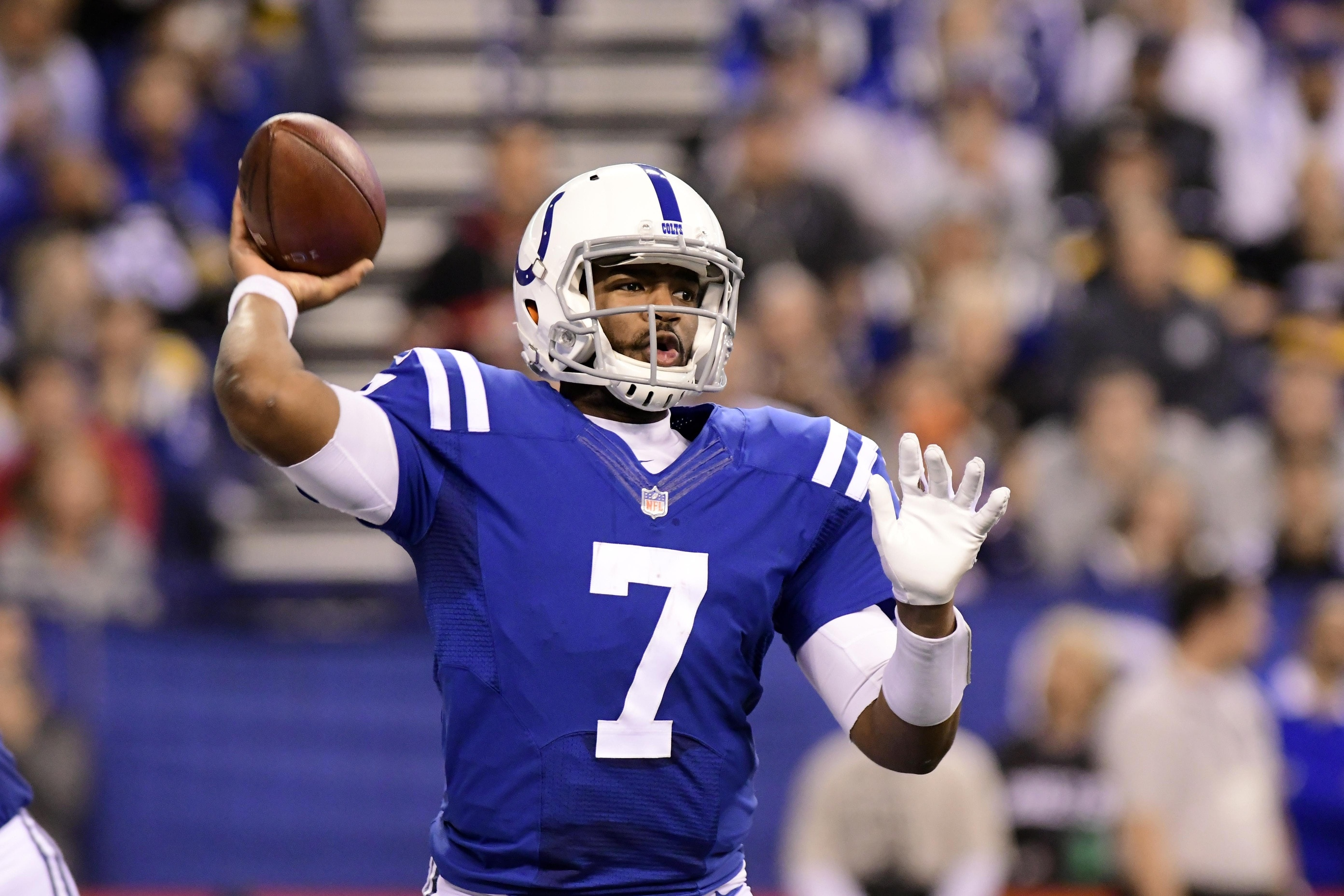 brand new 5c590 89d97 LOOK: Jacoby Brissett wears Bobby Boucher 'Waterboy' jersey