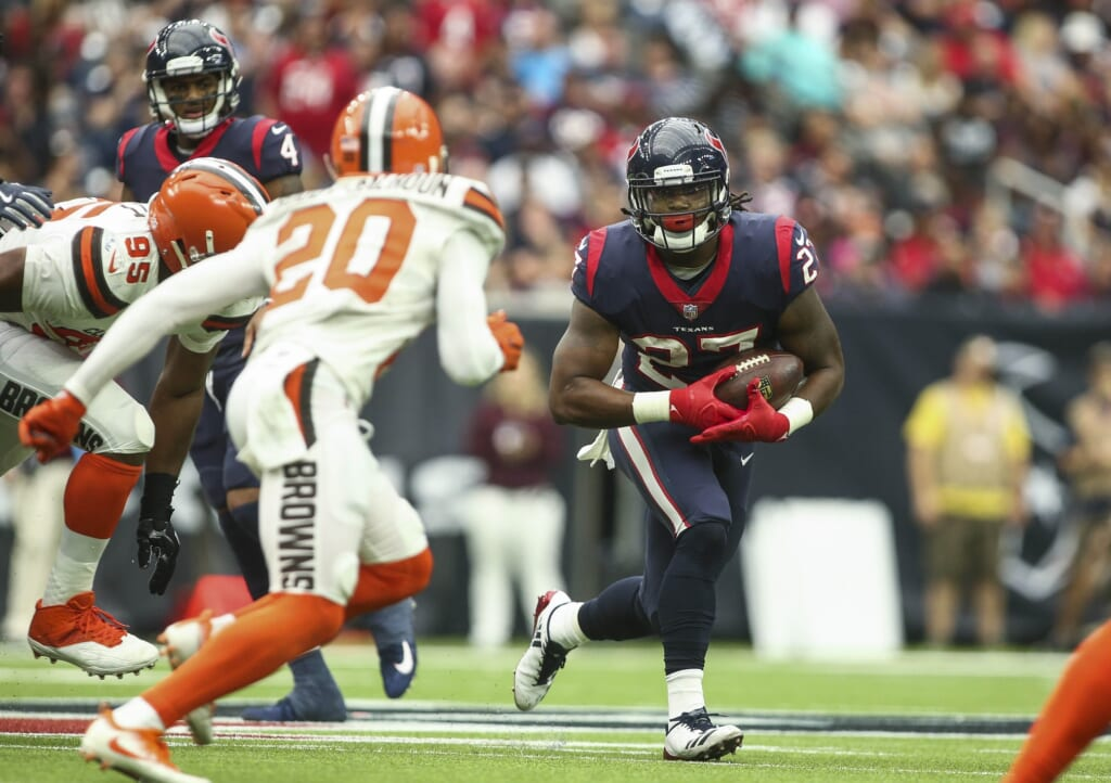 Texans running back D'Onta Foreman