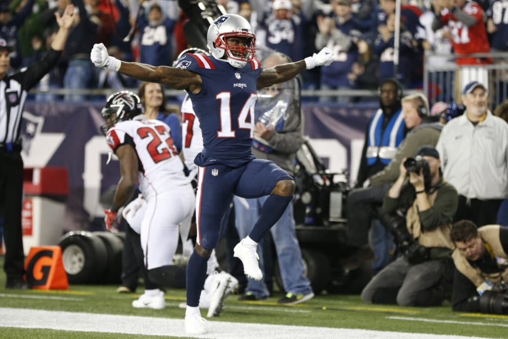 Patriots receiver Brandin Cooks