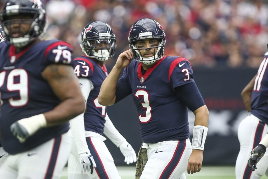 Houston Texans quarterback Tom Savage