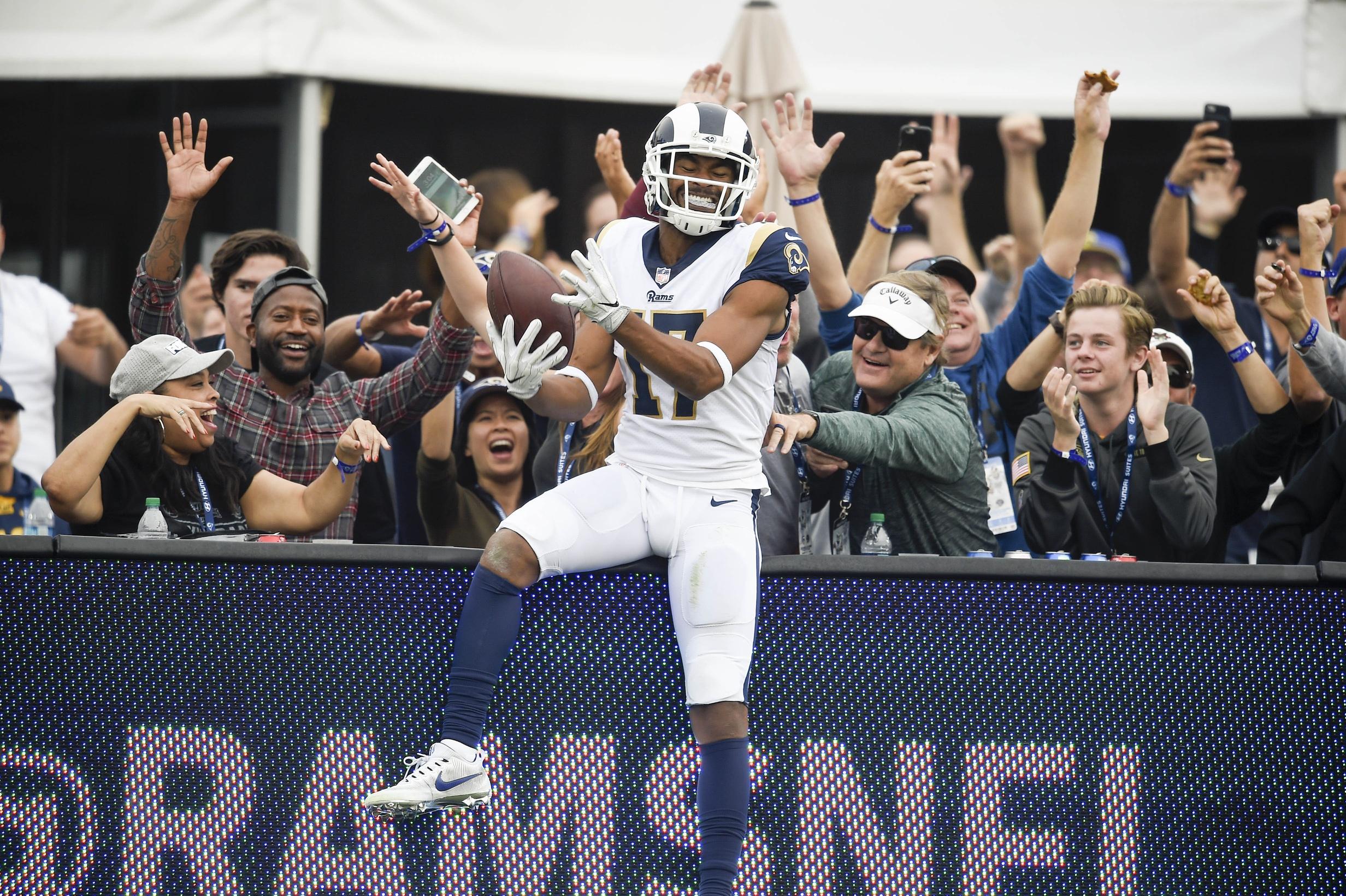 Los Angeles Rams receiver Robert Woods in NFL Week 10
