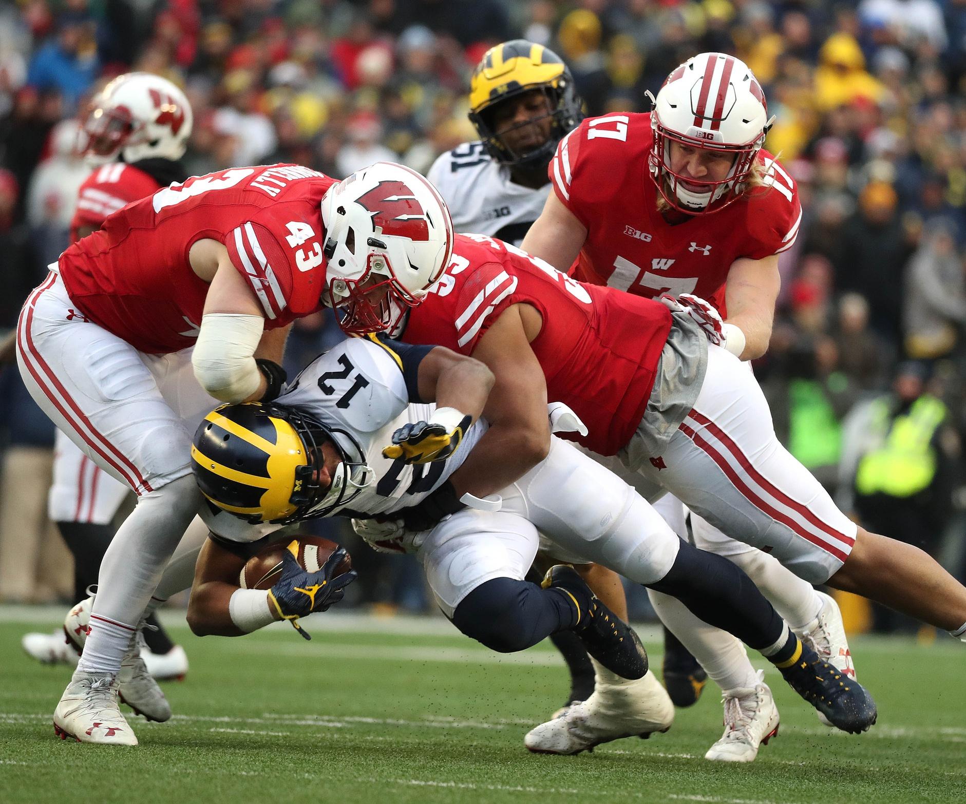 Michigan running back Chris Evans