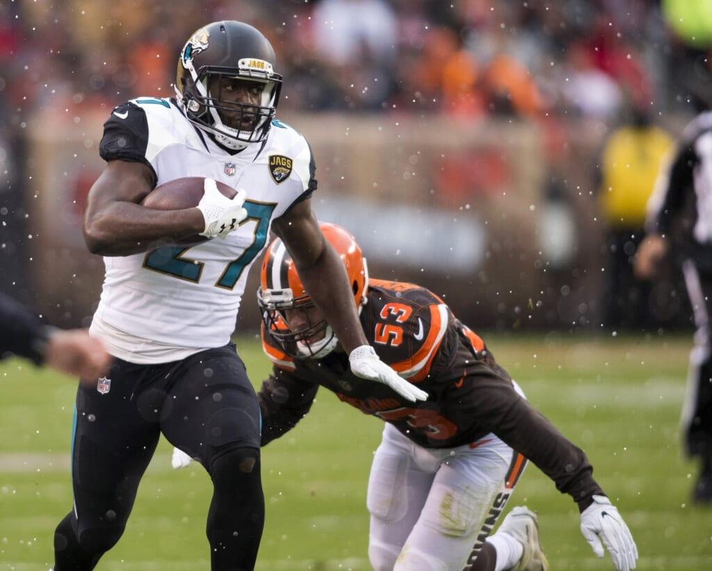 Jaguars running back Leonard Fournette
