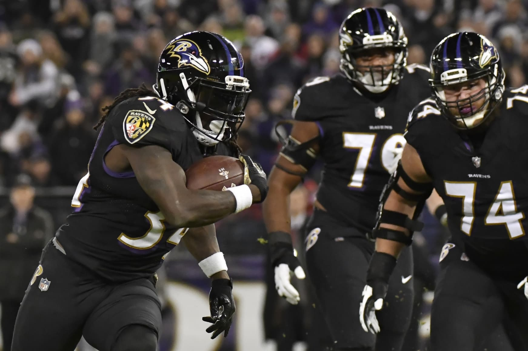 Ravens running back Jarvorius Allen on Monday Night Football
