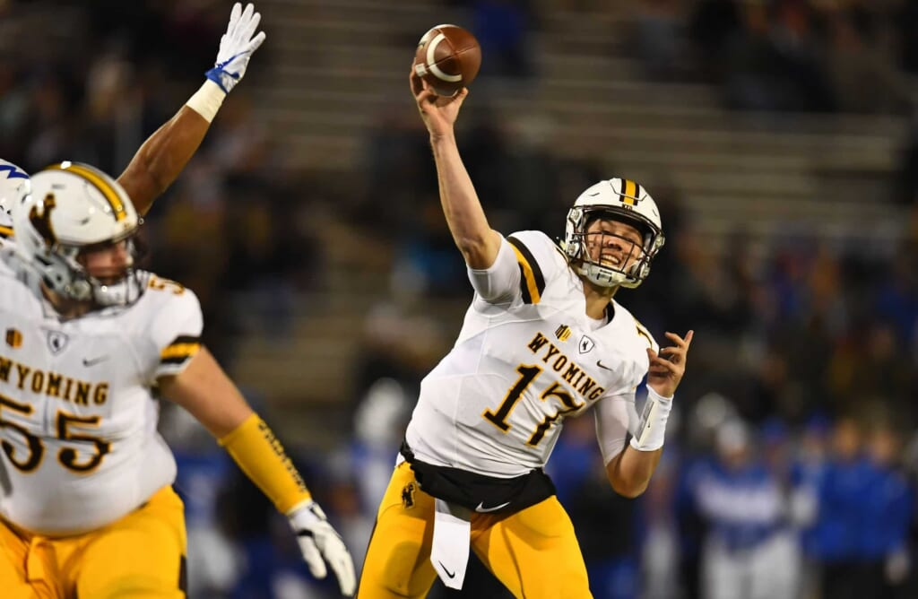 Wyoming quarterback Josh Allen