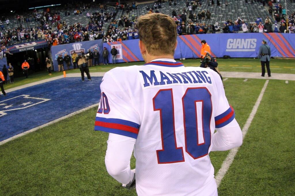 Giants quarterback Eli Manning