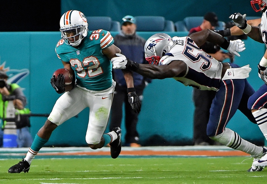 Dolphins running back Kenyan Drake on Monday Night Football