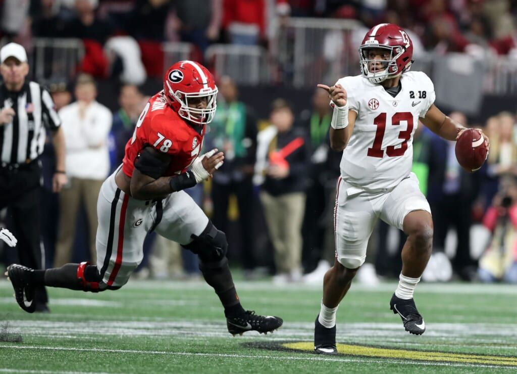 Tua Tagovailova is one of the rising stars in college football