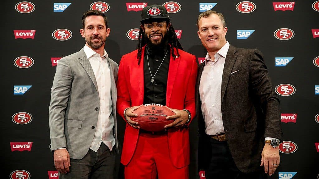 Richard Sherman officially introduced as a member of the 49ers