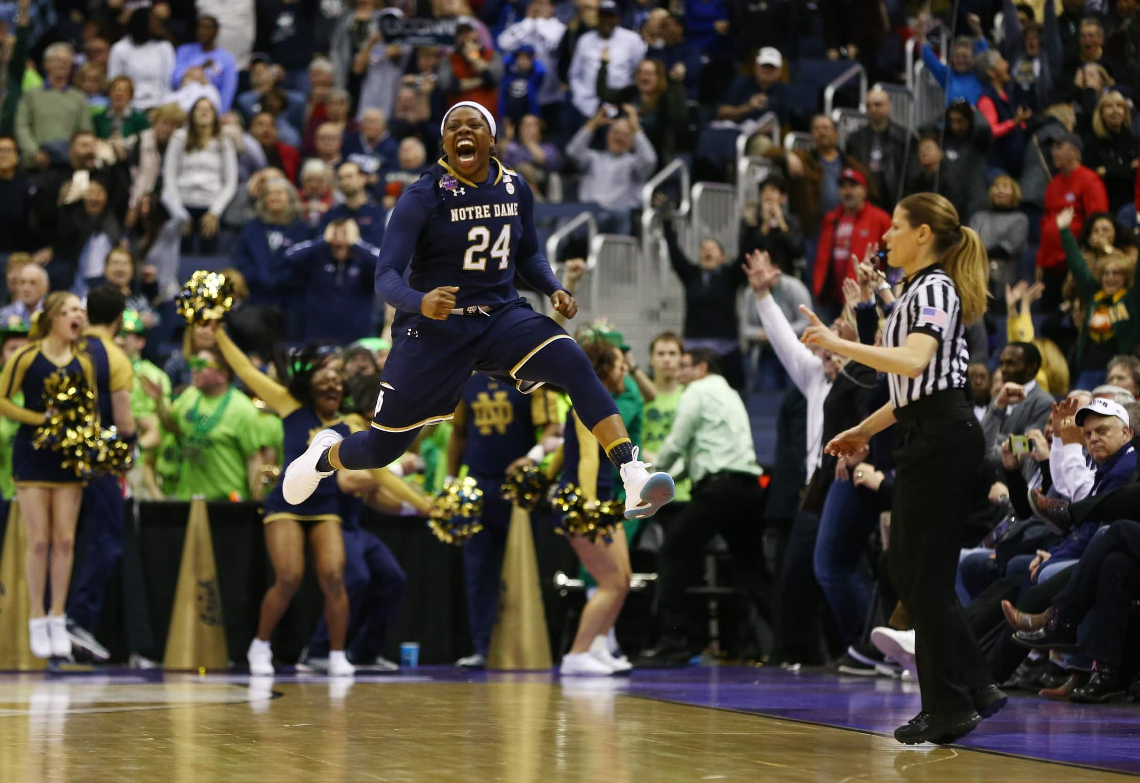 WATCH: Announcers show utter shock as Notre Dame takes down Uconn