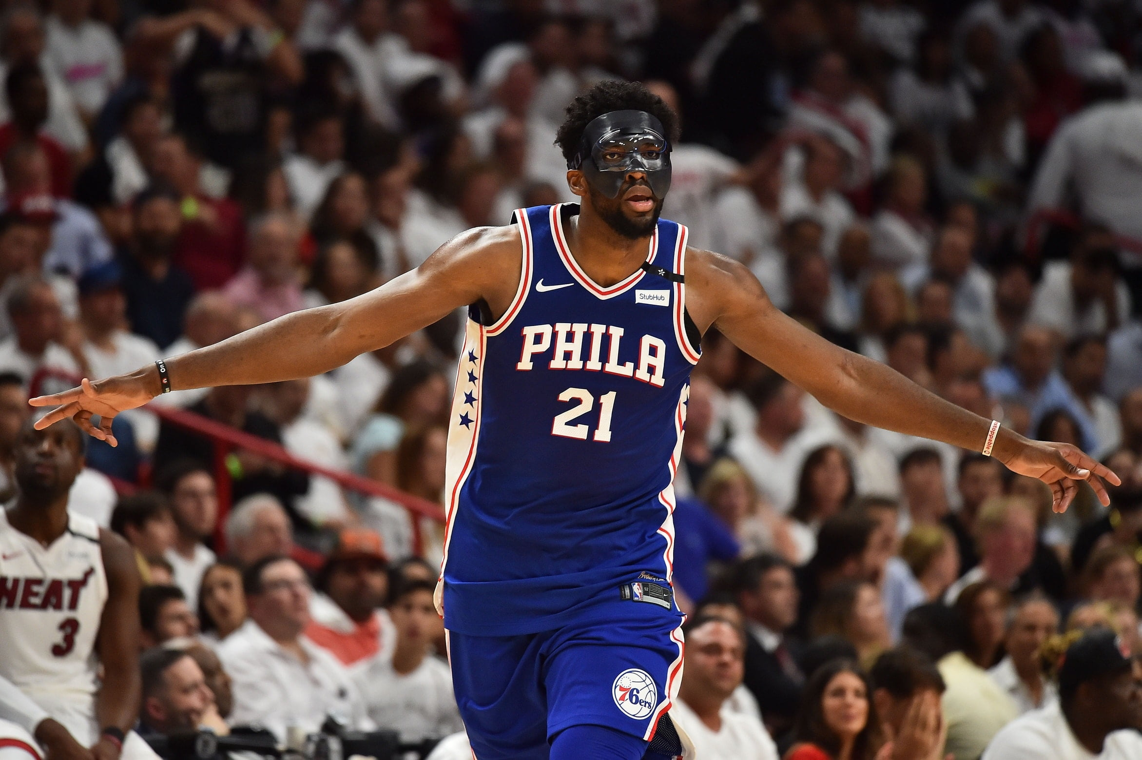 Check out this awesome Joel Embiid mask t-shirt