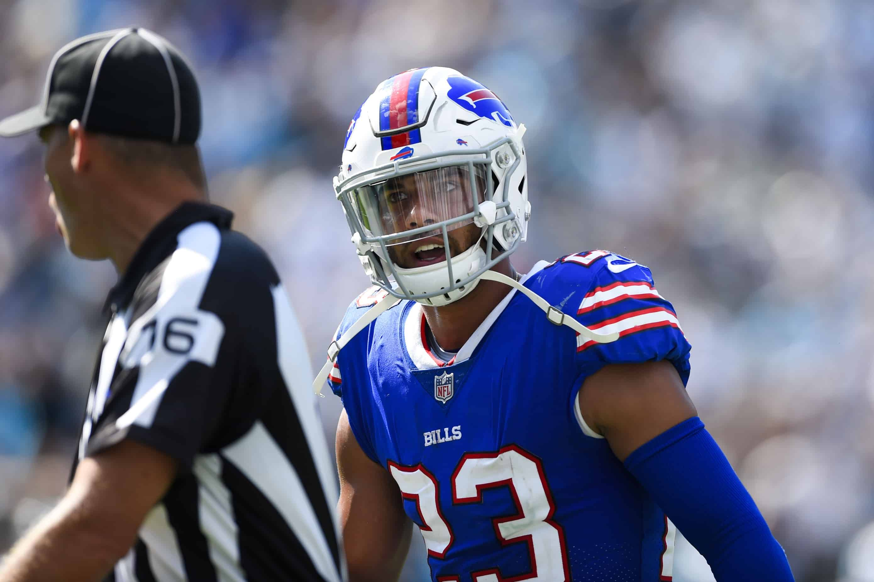 info for f3d7f 17814 Micah Hyde has interesting idea to cut down on helmet-to ...