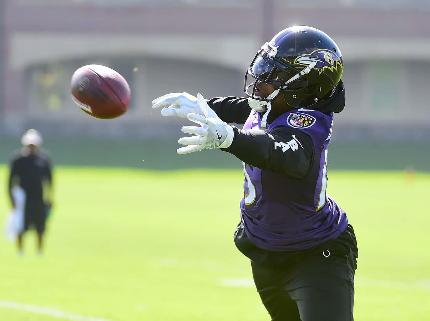 Ravens receiver Michael Crabtree