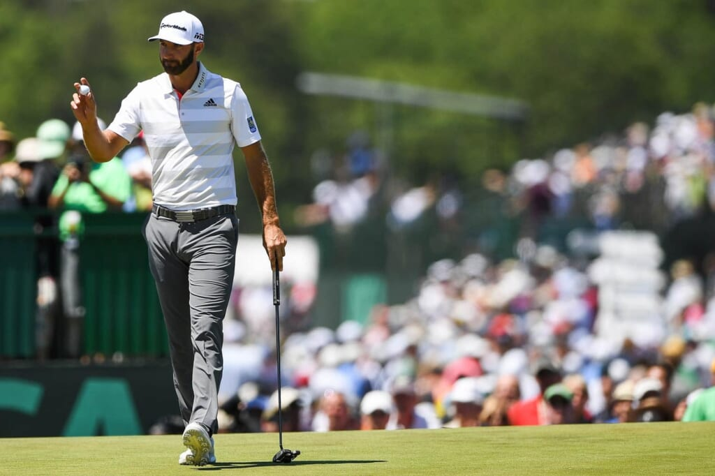 Dustin Johnson in Round 1 of the U.S. Open