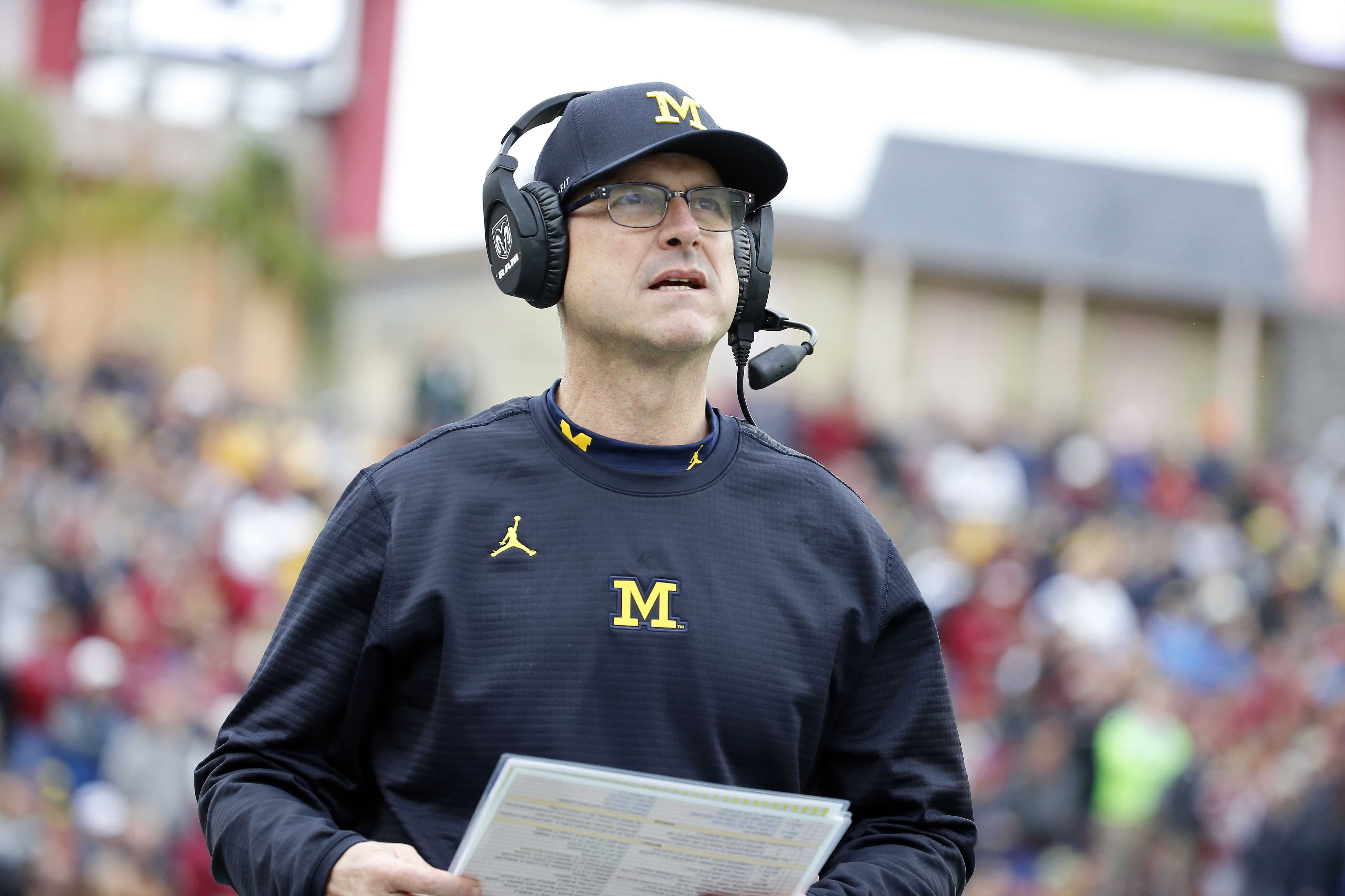 Jim Harbaugh and the Wolverines have quite the test in college football Week 1