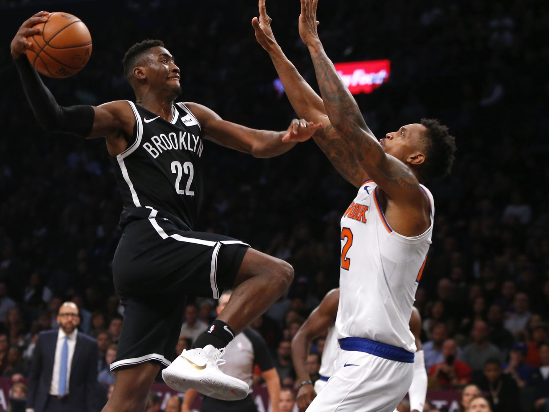check out f04e8 d27d8 WATCH: Nets' Caris LeVert stuns the Knicks with game-winner