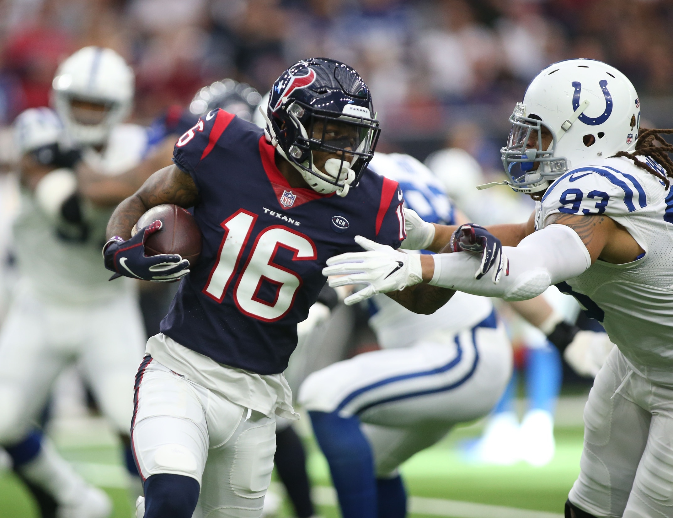 best loved 9d994 e5372 WATCH: Keke Coutee scores incredible diving TD to spark Texans