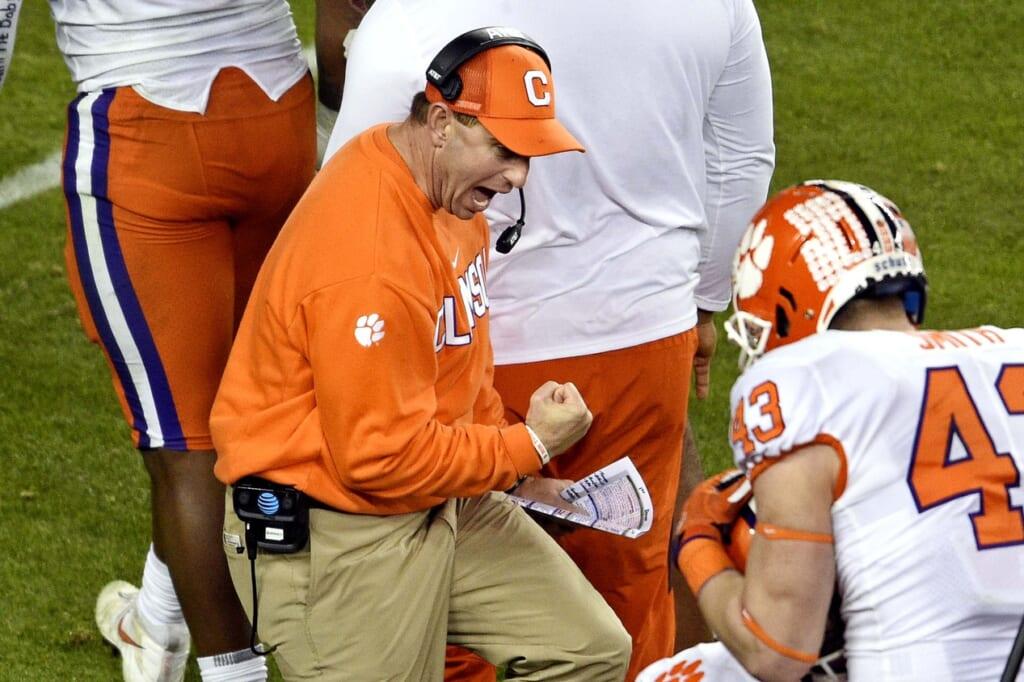 Highest-paid college football coaches: Dabo Swinney, Clemson