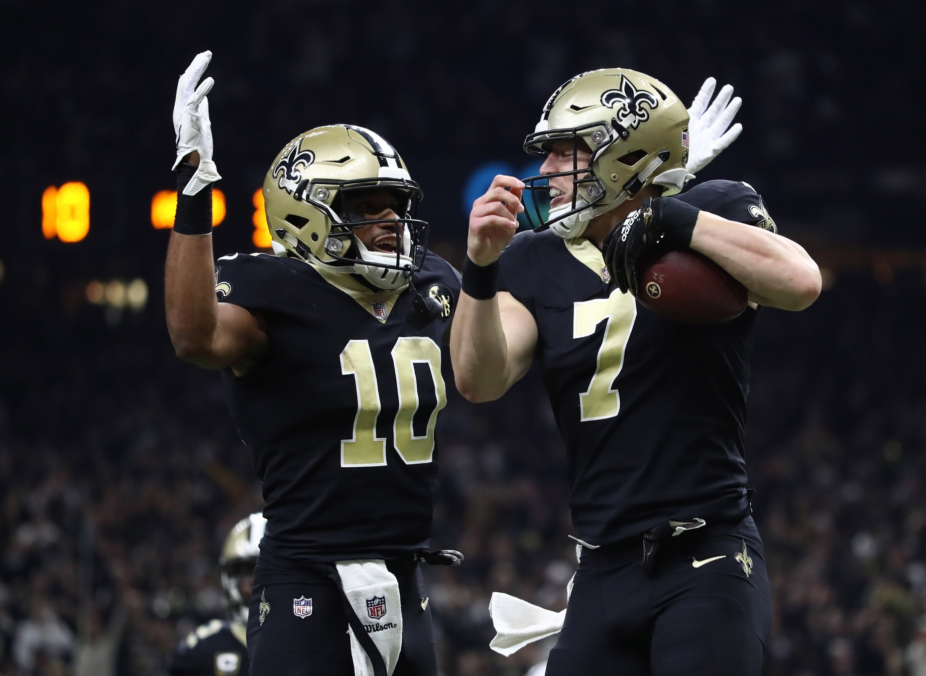 online store c98cb e6d24 WATCH: Drew Brees finds Taysom Hill for Saints TD