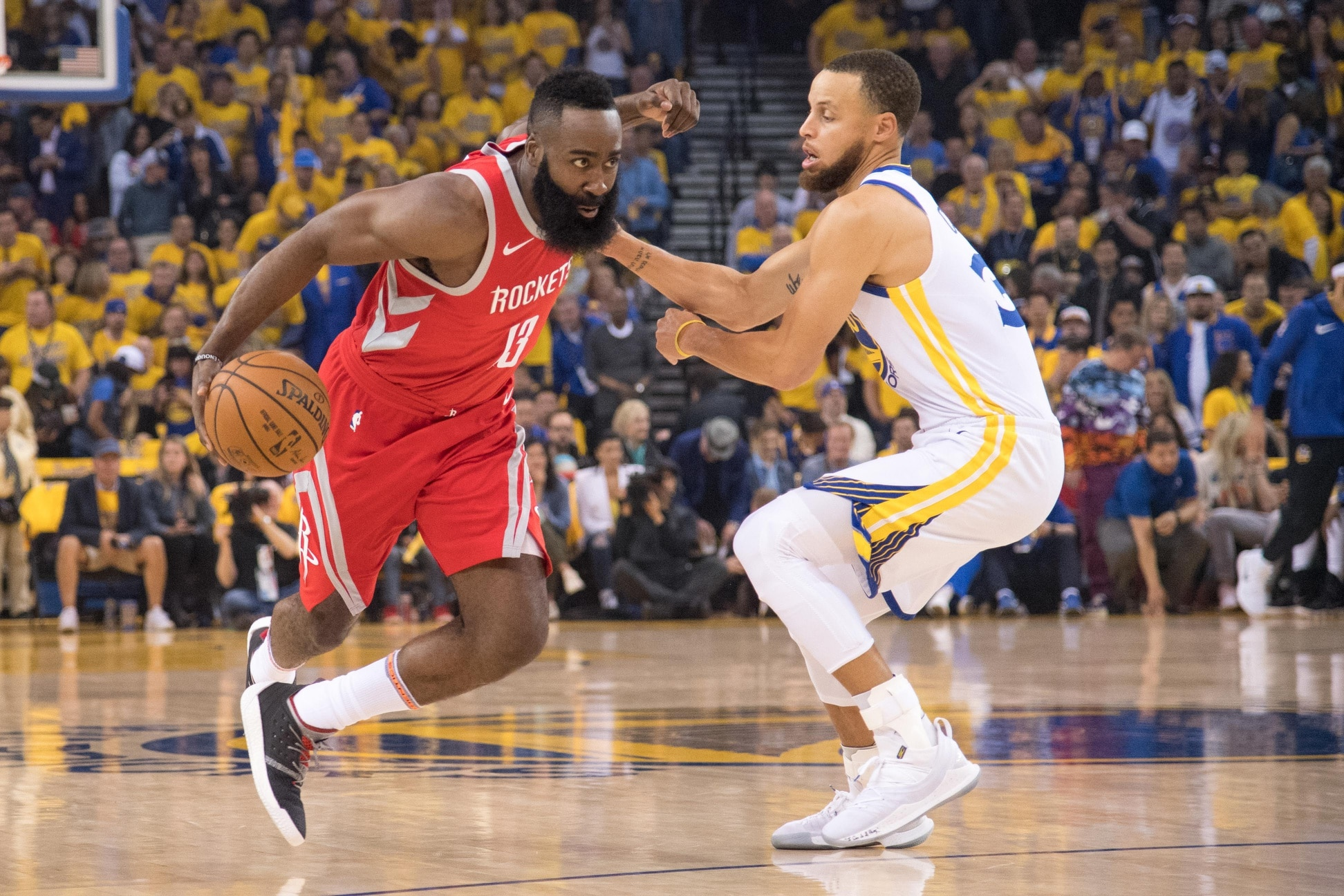 24f35ec96ae7 WATCH  Stephen Curry caught on hot mic dishing on James Harden