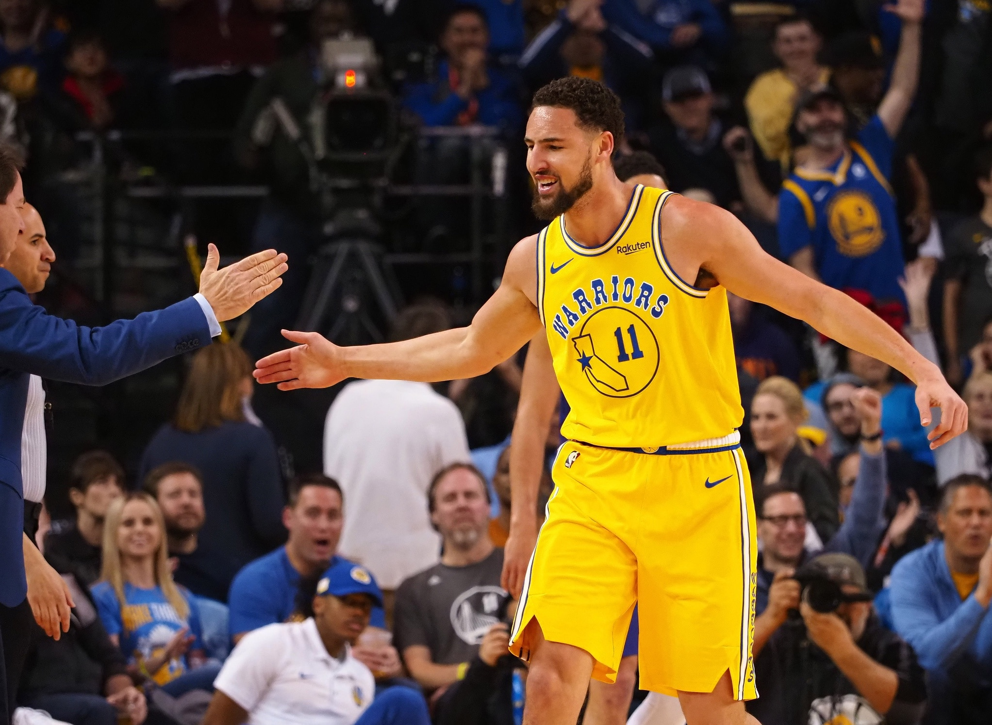 1268a22a096 Klay Thompson on being upset with role   That s not true