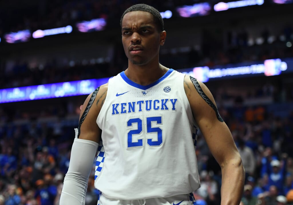 Kentucky's PJ Washington out for Thursday's game, has hard ...