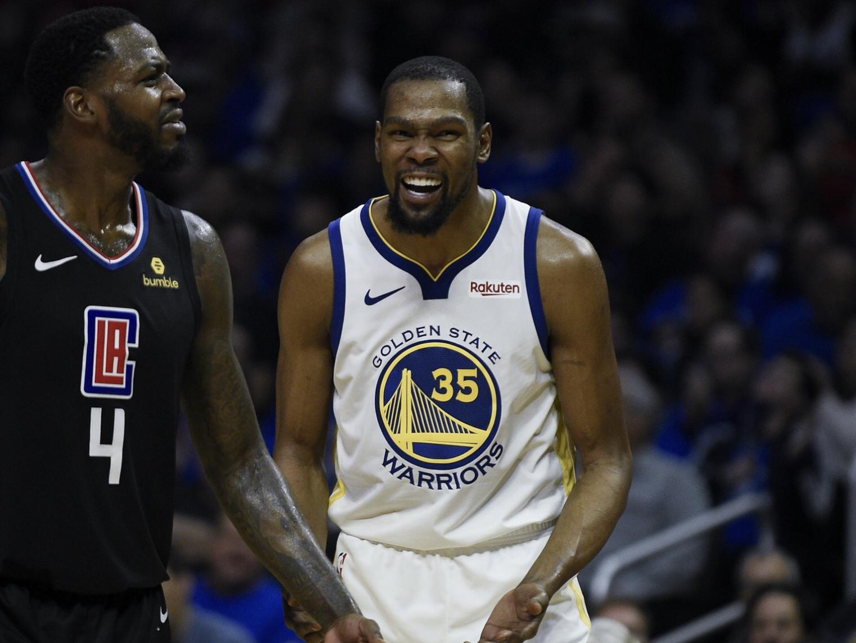 【影片】聯盟宣佈取消杜蘭特和格林的技術犯規,KD:我們真的只是在討論!-籃球圈