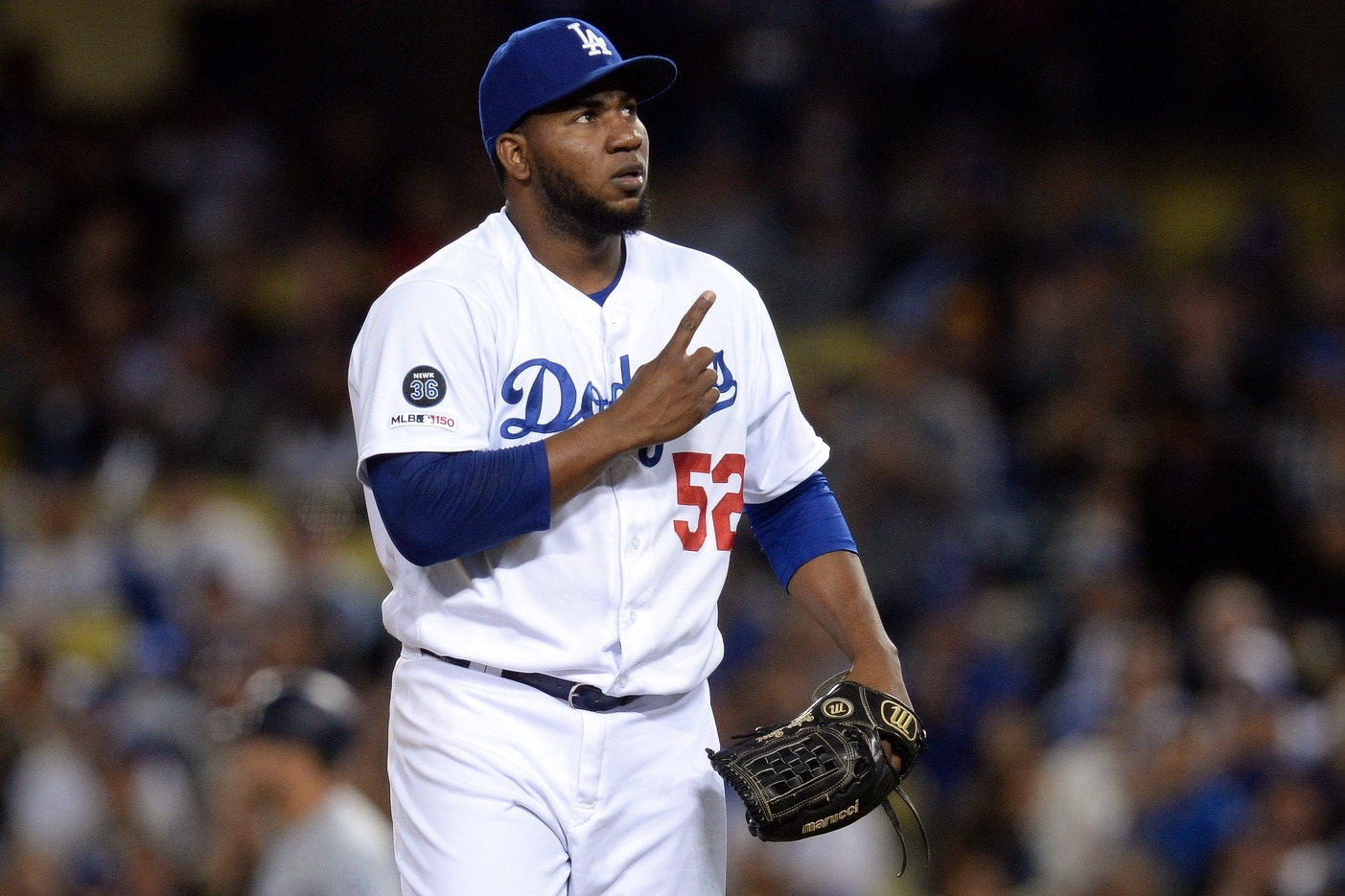 new style 142a1 2a0f0 WATCH: Pedro Baez removed from game after being hit by 103 ...