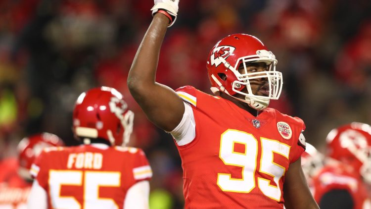 Chiefs' Chris Jones against the Patriots in the AFC Championship Game