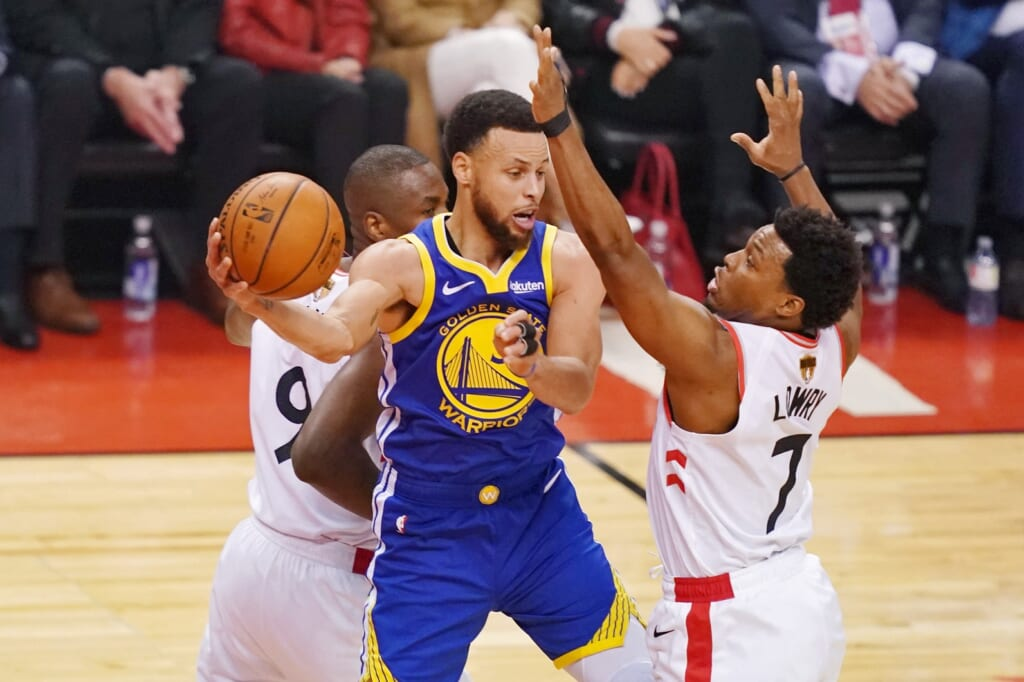 Stephen Curry Kyle Lowry NBA Finals Game 4 Warriors Raptors