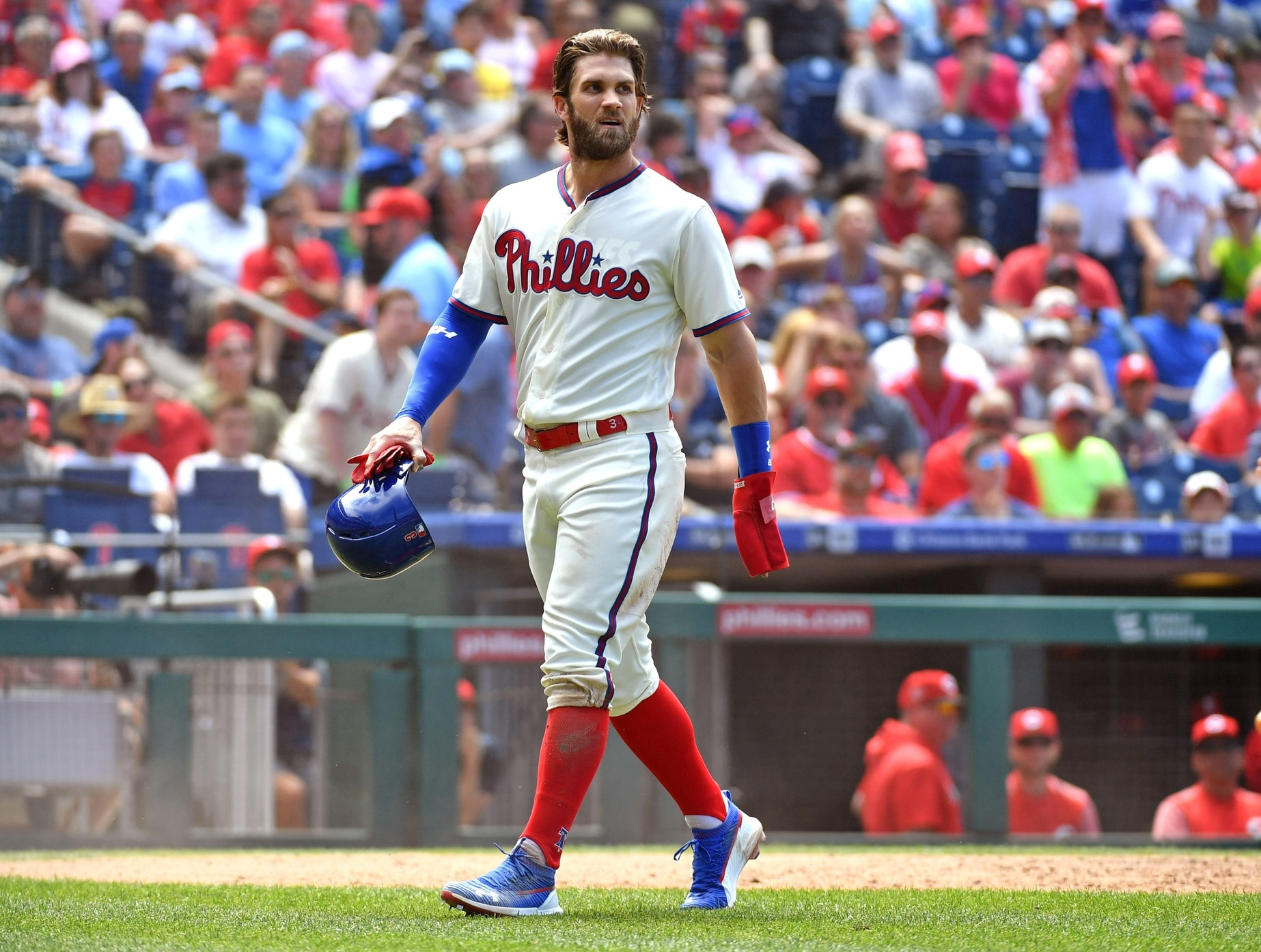 WATCH: Bryce Harper takes responsibility for Phillies firing coach