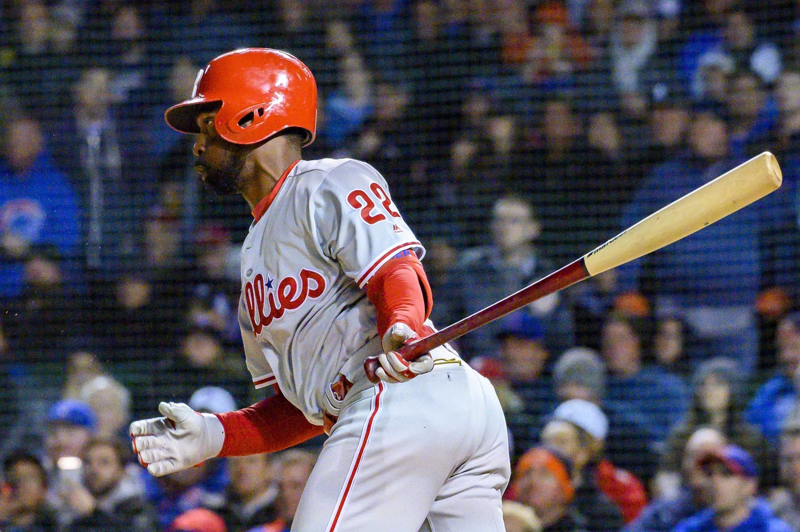 new arrival c701b 95d97 LOOK: Andrew McCutchen kills in Phillies' throwback jersey