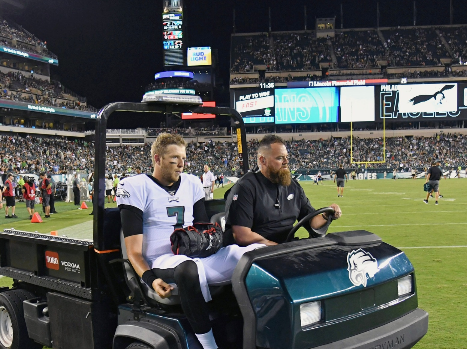 Nate Sudfeld Injured in the First Preseason Game