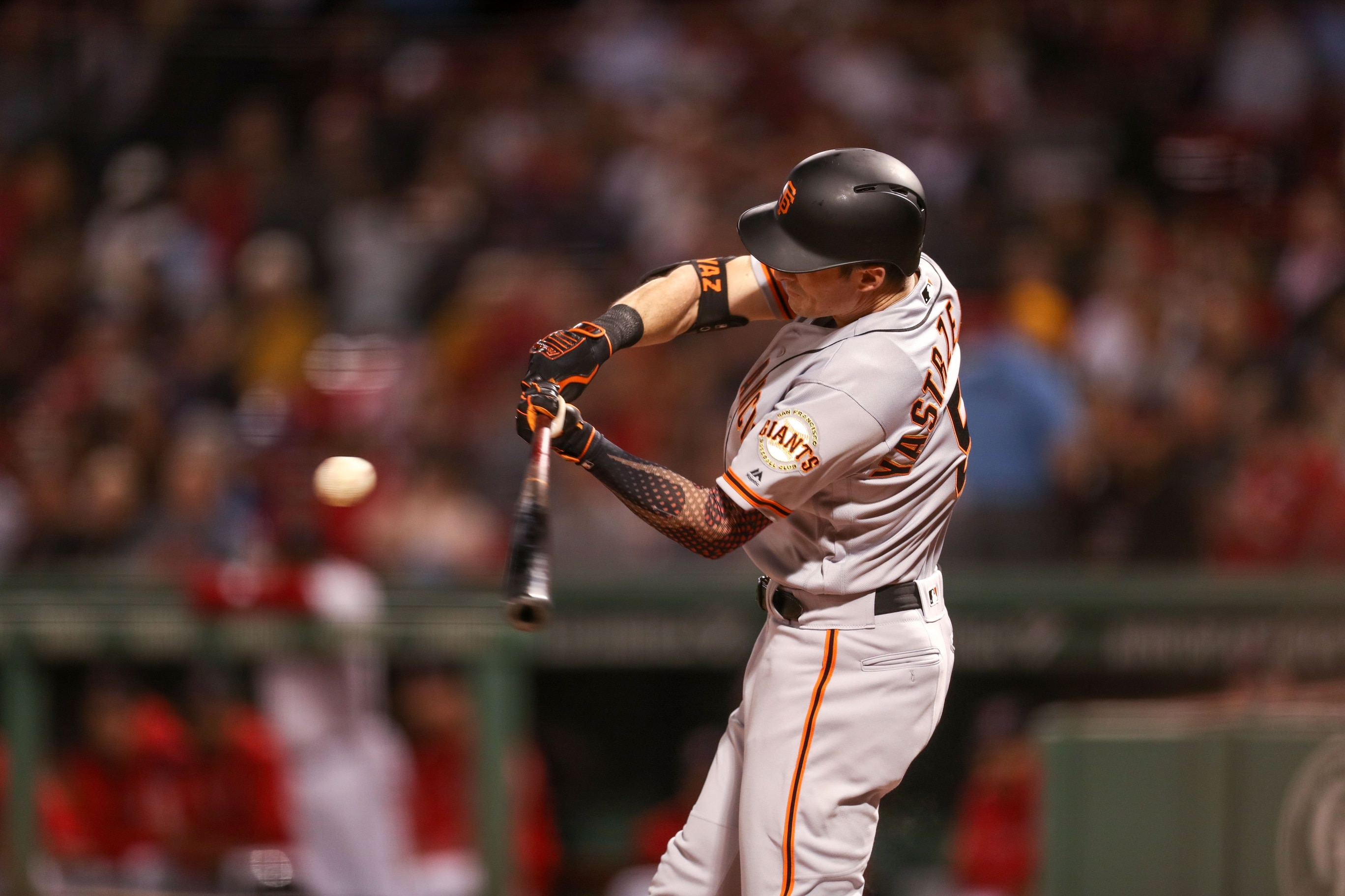 cheap for discount bfe38 f4176 WATCH: Mike Yastrzemski hits home run at Fenway Park