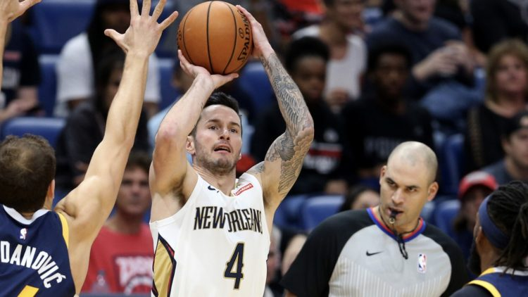 Pelicans star JJ Redick in a game against the Jazz
