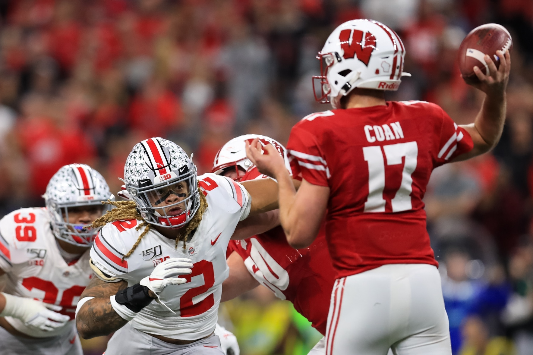 Watch Jack Coan Puts Wisconsin Up 14 0 Over Ohio State With