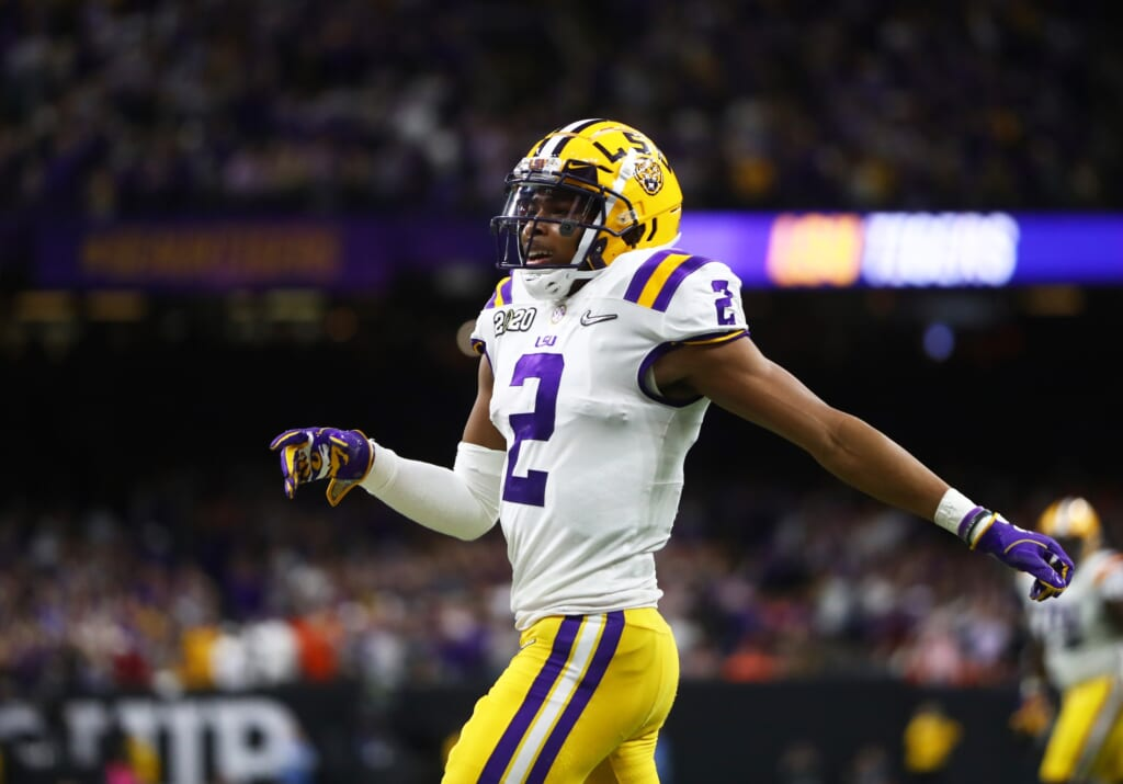 LSU's Justin Jefferson boosts draft stock with blazing 40 time at scouting combine