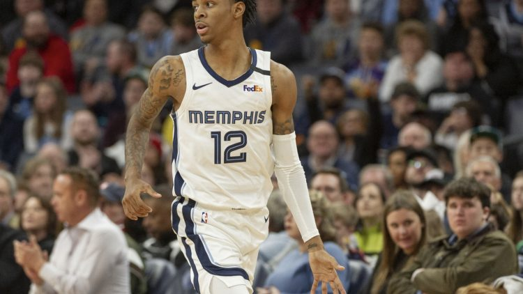 Grizzlies Ja Morant during game against the Kings