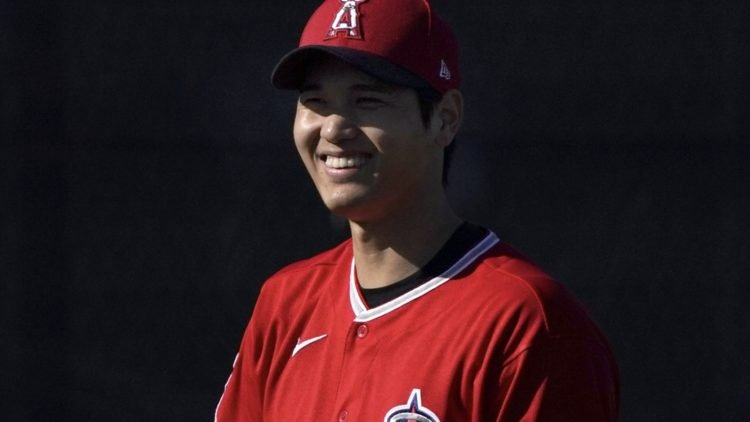 Angels star Shohei Ohtani during spring training