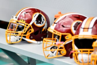Washington Redskins helmet during a game against the Miami Dolphins