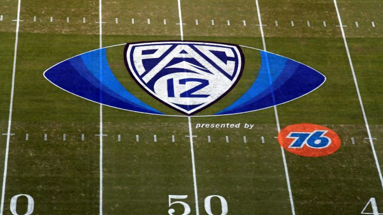 Pac-12 logo at midfield