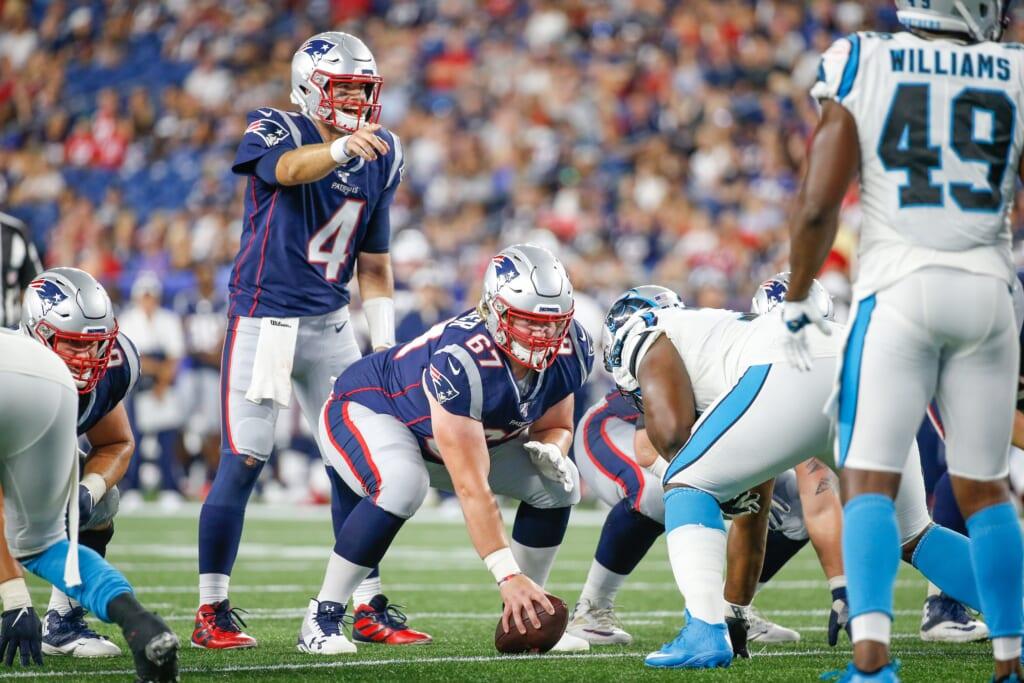 Jarrett Stidham calls audible for New England Patriots