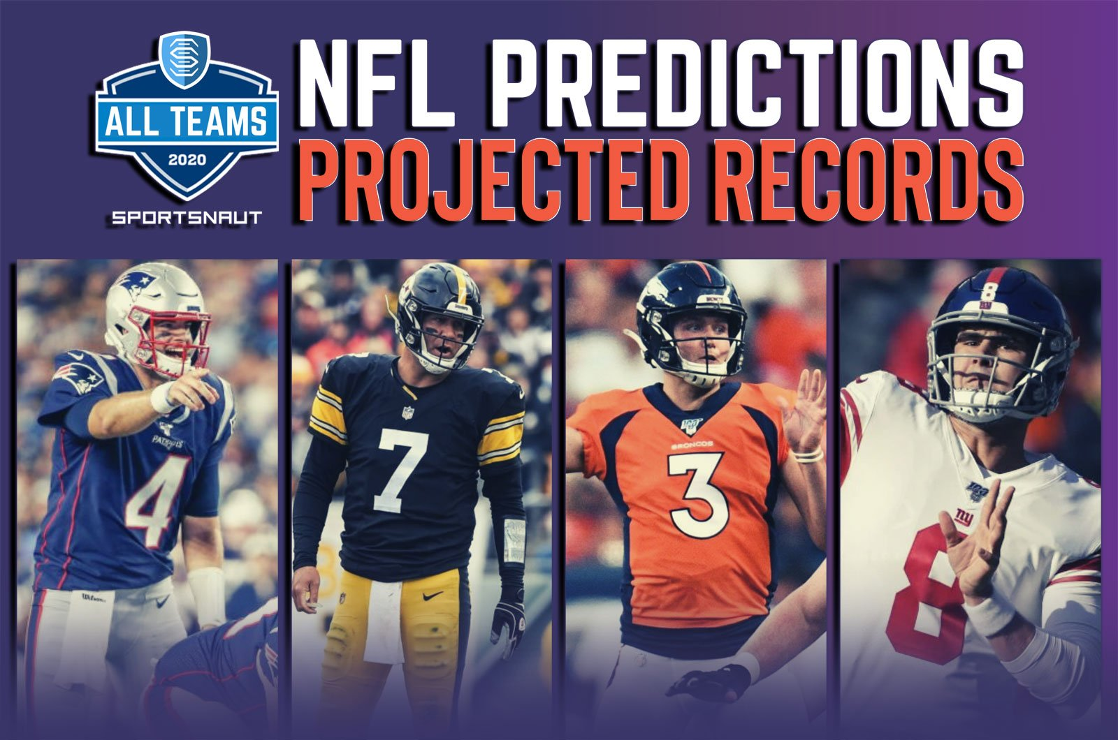 Every Nfl Team S Projected Record In 2020 Sportsnaut