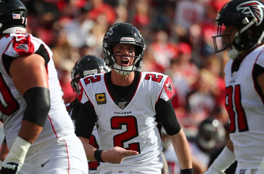 Falcons QB Matt Ryan during game against Buccaneers