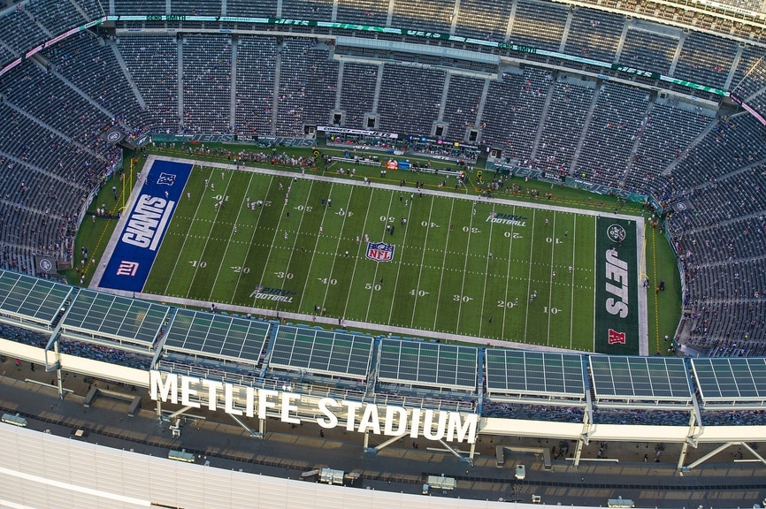 MetLife Stadium aerial view
